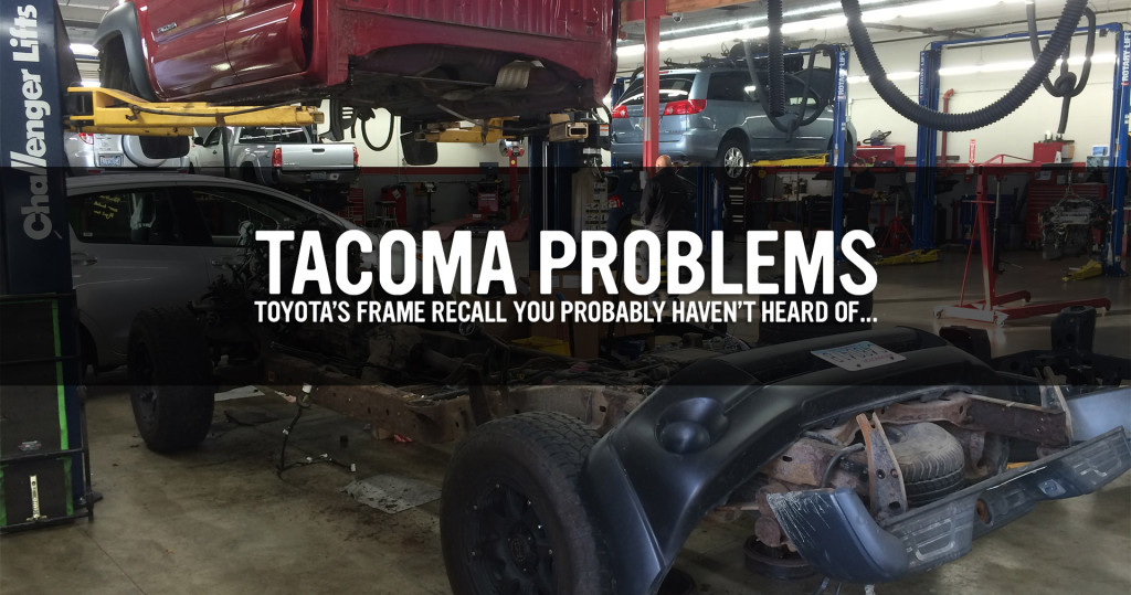 Toyota Frame Recall - Excessive Rust