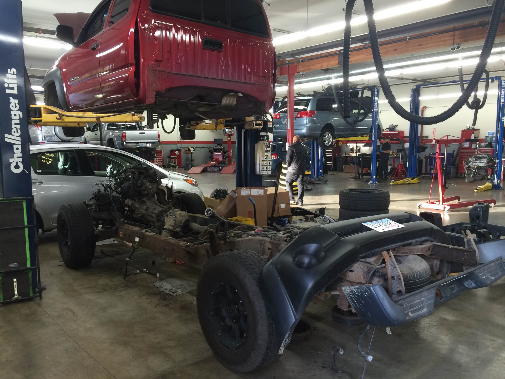 A Toyota Tacoma Sits In Pieces During The Frame Rust Recall