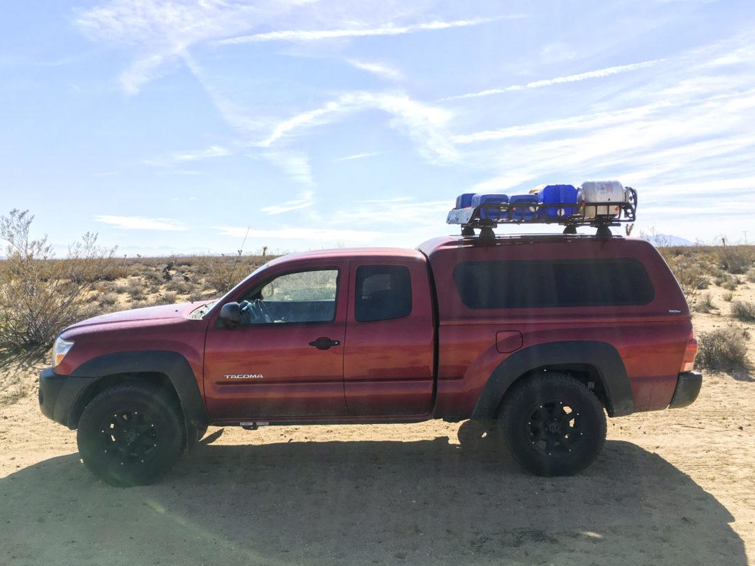 #CampTacoma in the Mojave Desert